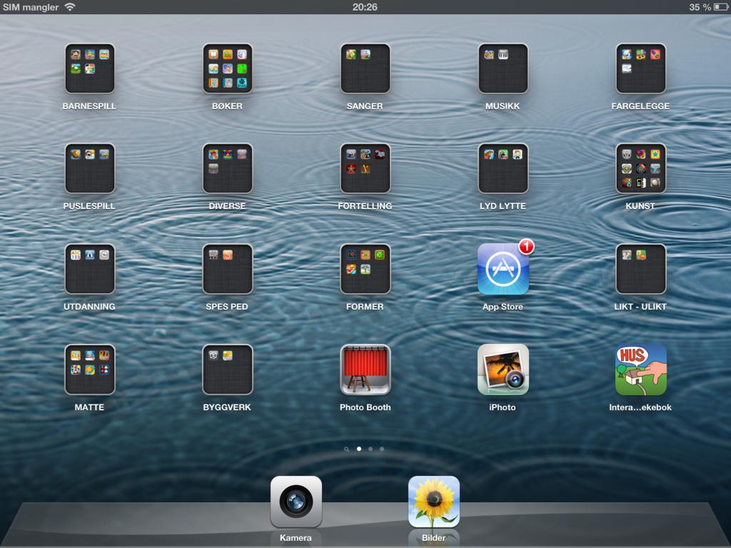 Apper og mapper