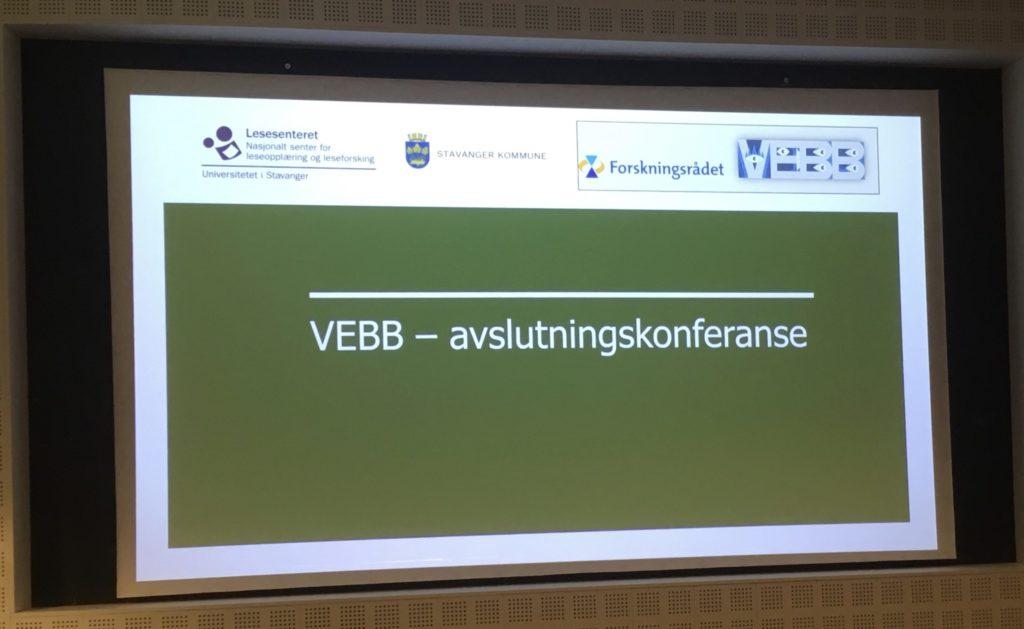 Avslutningskonferanse for VEBB